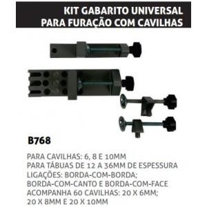 KIT GABARITO UNIVERSAL P/FURACAO CAVILHAS BLACKJACK