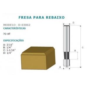 FRESA P/REBAIXO 70 HT 1/4 D03062 MAKITA