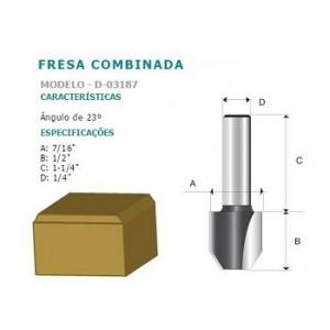 FRESA COMBINADA 23 GRAUS HT 1/4 D03187 MAKITA