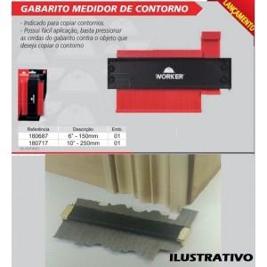 "MEDIDOR CONTORNO GABARITO 150MM -  6"" WORKER"