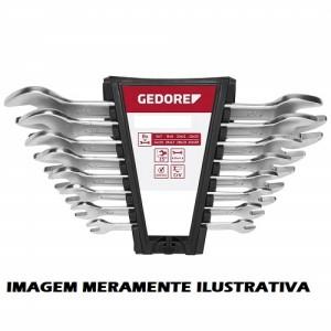 JOGO CHAVE FIXA BOCA 1/4 A 1.1/4 - 8P G.CR-V GEDORE-RED