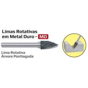 LIMA ROTATIVA 08MM ARVORE PONTIAGUDA METAL DURO