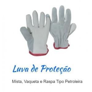 LUVA VAQUETA MISTA C/REFORCO PLASTCOR