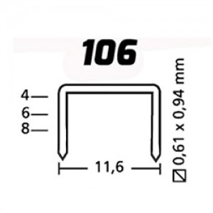 GRAMPO 106/8 GRAMPEADOR ( 2.500 PCS ) ROCAMA
