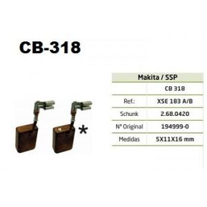 ESCOVA CARVAO CB318 - 9561/9561CV/9561CVH/9564/9564CV/9565/9565CV/9566C/9566CV/GD0800C/GD0810C/PW5001C/SG1250