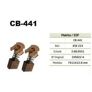 ESCOVA CARVAO CB441 - BJR141/BJR181/BLS712/BSS610/BTD200/BTW201/JR140D/JR180D/DHR202
