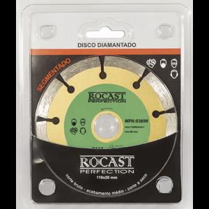 DISCO DIAMANTADO 110MM SEGMENTADO ROCAST