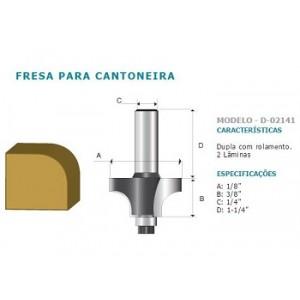 FRESA CANTONEIRA DUPLA C/ROLAM HT 1/4 D02141 MAKITA