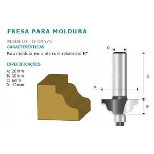 FRESA P/MOLD ONDULADA C/ROLAM D09575 HT 6MM MAKITA