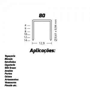 GRAMPO 80/10 GRAMPEADOR E PINADOR ROCAMA ( 4.000 PCS )