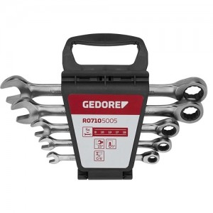 JOGO CHAVE COMBINADA CATRACA 8 A 19 5PCS GEDORE-RED
