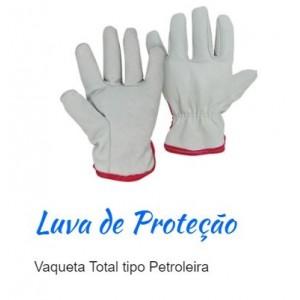 LUVA VAQUETA TOTAL C/REFORCO PETROL PLASTCOR
